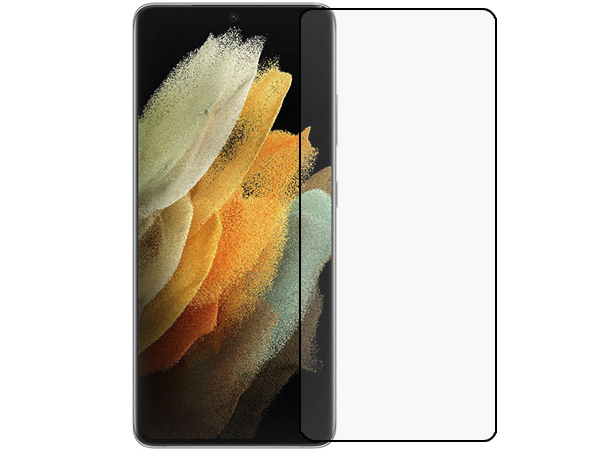 3D Full Coverage Tempered Glass Screen Protector for Samsung Galaxy S21 - Black Screen Protector