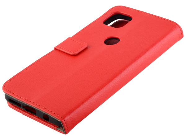 Synthetic Leather Wallet Case with Stand for Motorola Moto G 5G - Red Leather Wallet Case