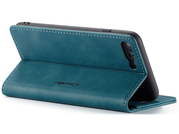 CaseMe Slim Synthetic Leather Wallet Case with Stand for iPhone 8 Plus/7 Plus - Teal Leather Wallet Case