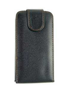 Synthetic Leather Flip Case for LG KM900 - Black Leather Flip Case