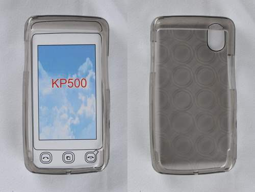 LG KP500 Jelly Case - Clear Soft Cover