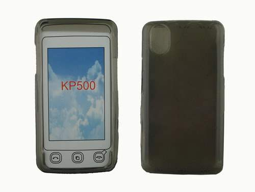 LG KP500 Jelly Case - Grey Soft Cover