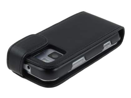 Nokia N97 mini  Synthetic Leather Flip Case - Black