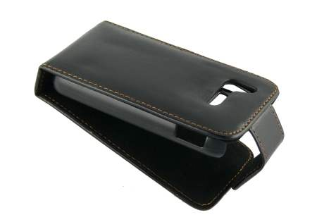 Synthetic Leather Flip Case for LG KM900 - Black