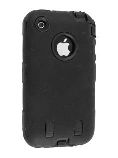 Defender Case for iPhone 3G/S - Black Impact Case