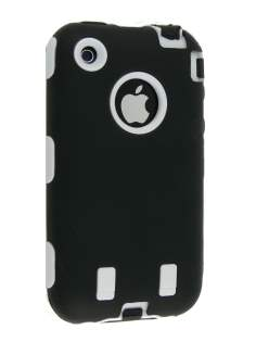 Defender Case for iPhone 3G/S - Black/White Impact Case