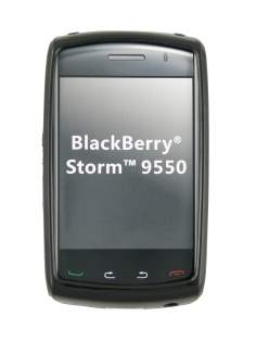 TPU Gel Case for Storm 9550/9520 - Black Soft Cover