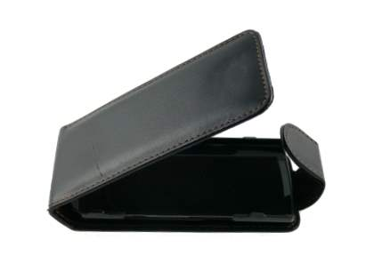 Samsung S8300 Synthetic Leather Flip Case - Black