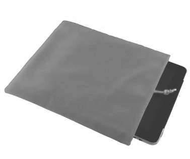 Stylish Protective Velour Sleeve - Grey
