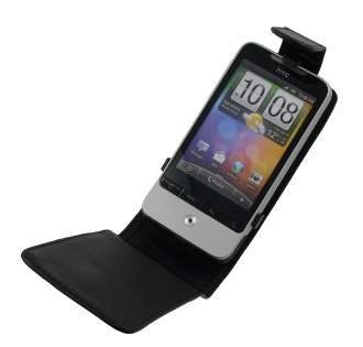 Synthetic Leather Flip Case for HTC Hero G3 - Black