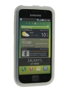 Silicone Case for Samsung  I9000 Galaxy S - White Soft Cover