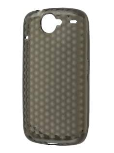 Diamond TPU Gel Case for HTC Google Nexus One - Grey Soft Cover