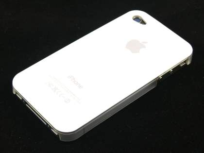 Glossy Back Case for iPhone 4 only - White