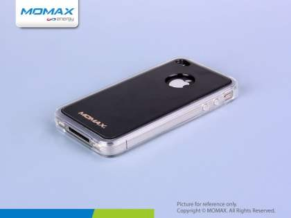 iCase Pro Dual-Design with hand strap for iPhone 4/4S - Clear/Black