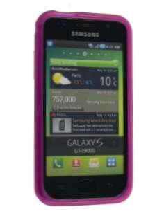 TPU Gel Case for Samsung I9000 Galaxy S - Hot Pink