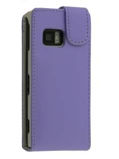 Synthetic Leather Flip Case for Nokia X6 - Purple Leather Flip Case