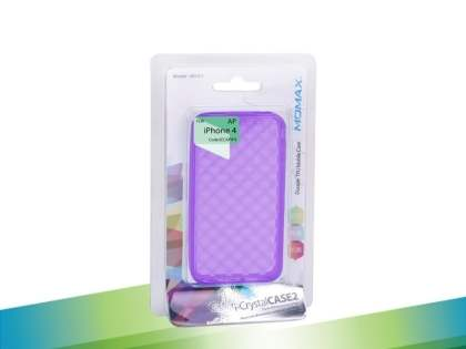 MOMAX i-Crystal Case 2 for Apple iPhone 4 - Purple
