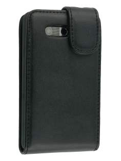 Synthetic Leather Flip Case for HTC Aria - Black Leather Flip Case