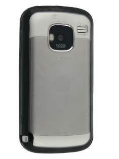 Nokia E5 Clear-backed Case - Black/Clear Dual-Design Case