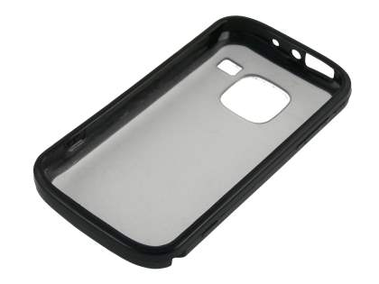 Nokia E5 Clear-backed Case - Black/Clear