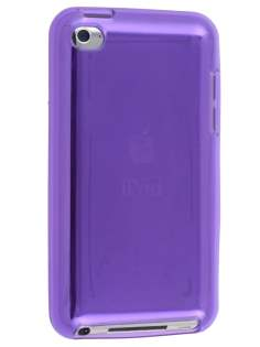 Soft Glass Case for iPod Touch 4 - Light Purple Soft Cover