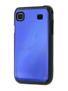 Timber-Style Coloured Case for Samsung I9000 Galaxy S - Blue/Black