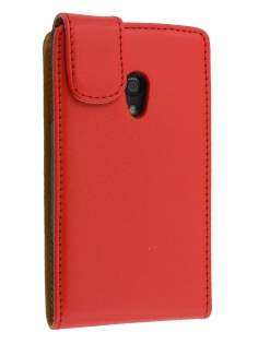 Synthetic Leather Flip Case for Ericsson Xperia x10 - Red Leather Flip Case