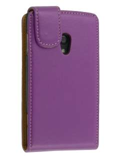 Synthetic Leather Flip Case for Ericsson Xperia x10 - Purple Leather Flip Case
