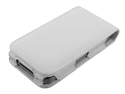 iPhone 4G/4S Synthetic Leather Flip Case - Pearl White
