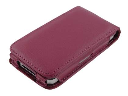 Synthetic Leather Flip Case for iPhone 4/4S - Maroon Red