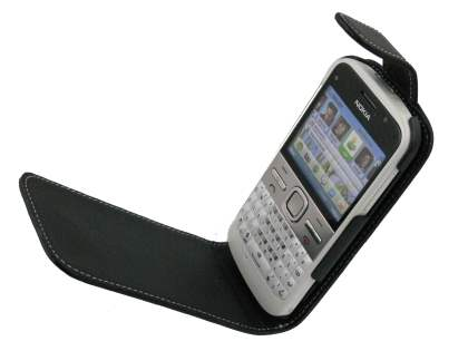 Nokia E5 Synthetic Leather Flip Case - Black