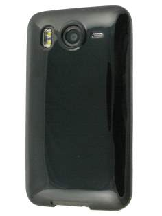 TPU Back Case for HTC Desire HD - Black Soft Cover