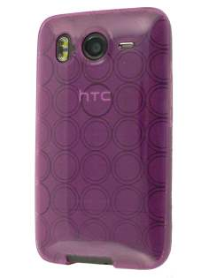 TPU Gel Case for HTC Desire HD - Purple