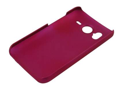 UltraTough Rubberised Slim Case for HTC Desire HD - Hot Pink
