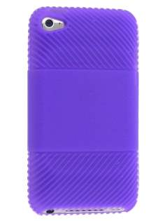 Silicone Case for iPod Touch 4 - Purple Soft Cover