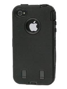 iPhone 4 /4S Defender Case - Black Impact Case