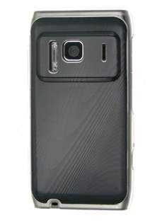 Timber-style pattern Case for Nokia N8 - Clear/Black Hard Case