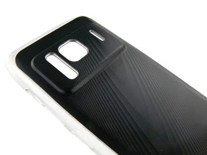 Nokia N8  timber-style pattern Case - Clear/Black