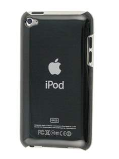 Glossy Back Case for iPod Touch 4 - Glossy Black Hard Case