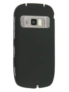 Nokia C7 UltraTough Rubberised Slim Case - Black Hard Case
