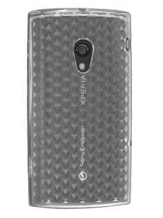 Diamond TPU Gel Case for Sony Ericsson Xperia X10 - Clear