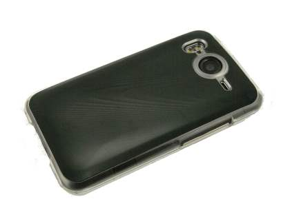 Timber-style pattern Case for HTC Desire HD - Clear/Black