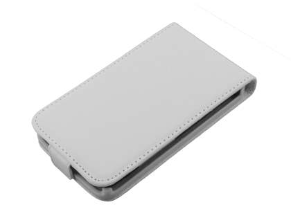 HTC Desire HD Synthetic Leather Flip Case - White