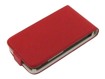 Synthetic Leather Flip Case for HTC Desire HD - Red