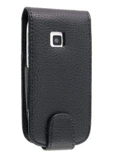 Synthetic Leather Flip Case for Nokia C7 - Black Leather Flip Case