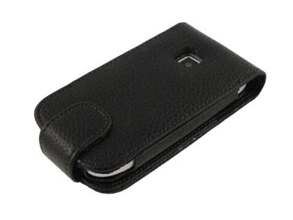 Synthetic Leather Flip Case for Nokia C7 - Black