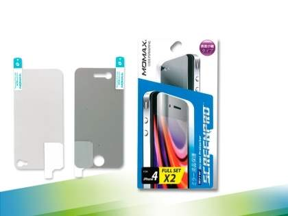 MOMAX iPhone 4 Mirror Screen & Back Protector - Screen Protector