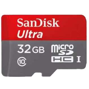 32GB SanDisk Ultra MicroSDHC UHS-I Memory Card with Adapter