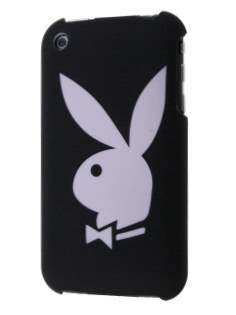 Playboy Rubberised Slim Case for iPhone 3GS - Black Hard Case