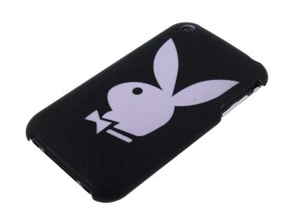 Playboy Rubberised Slim Case for iPhone 3GS - Black